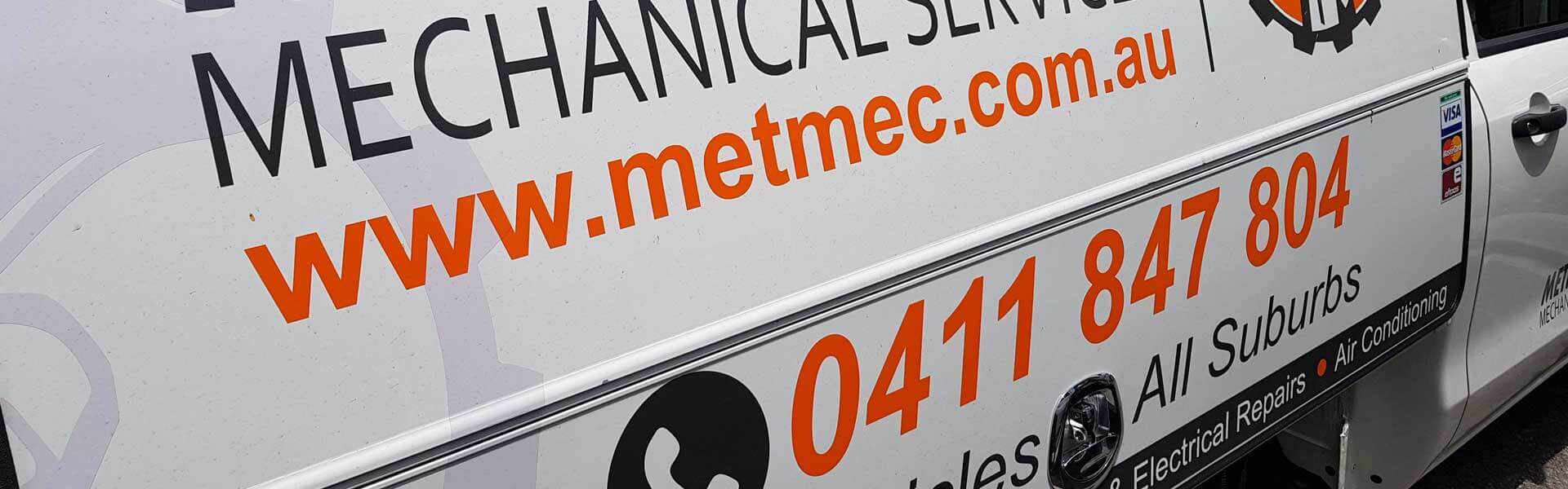Meticulous Mechanical Services - Service Vehicle Banner