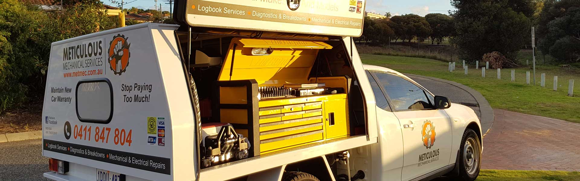 Meticulous Mechanical Services - Service Vehicle Tools Wing